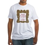 Man of One Book Fitted T-Shirt