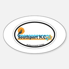Southport NC - Beach Design Sticker (Oval)