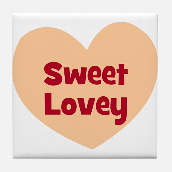 Sweet Lovey Tile Coaster