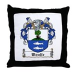 Woulfe Family Crest Throw Pillow
