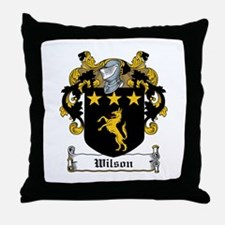 Wilson Coat of Arms Throw Pillow