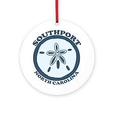 Southport NC - Sand Dollar Design Ornament (Round)