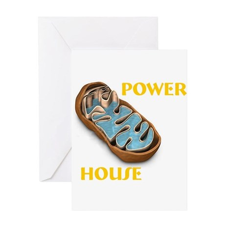 Mitochondria Power House Greeting Card