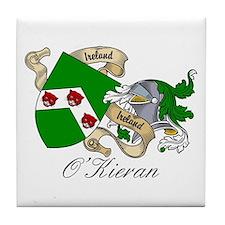 O'Kieran Family Crest Tile Coaster