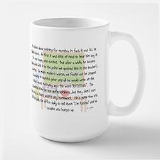 Retired Teacher Story Art Large Mug