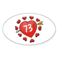 73rd Valentine Oval Decal