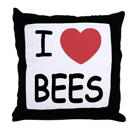 I heart bees Throw Pillow