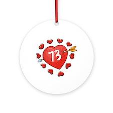73rd Valentine Ornament (Round)