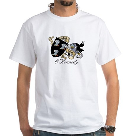 O'Kennedy Coat of Arms White T-Shirt