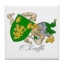 O'Keeffe Family Crest Tile Coaster