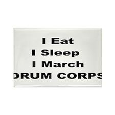 Unique Eat sleep drum Rectangle Magnet