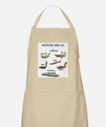 Identifying Roadkill Cartoon Apron