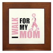 I Walk for my Mom Framed Tile