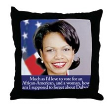 Condoleezza Rice Throw Pillow
