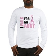 I Walk for my Aunt Long Sleeve T-Shirt