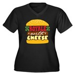 Royale With Cheese Women's Plus Size V-Neck Dark T