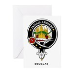 Douglas Clan Crest Badge Greeting Cards (Package o