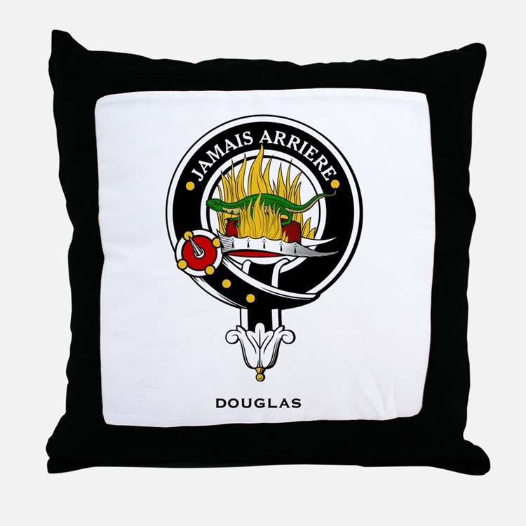 Douglas Clan Crest Badge Throw Pillow
