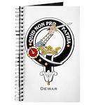 Dewar Clan Crest Badge Journal