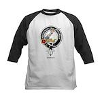 Dewar Clan Crest Badge Kids Baseball Jersey