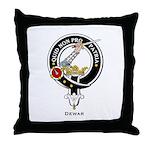 Dewar Clan Crest Badge Throw Pillow