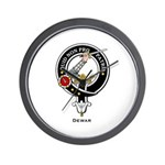 Dewar Clan Crest Badge Wall Clock