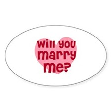 Will You Marry Me? Oval Decal