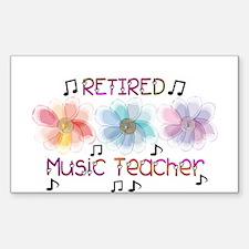 Retired Teacher II Sticker (Rectangle 10 pk)