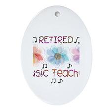 Retired Teacher II Ornament (Oval)