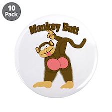 """Monkey Butt 2 3.5"""" Button (10 pack)"""