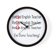 Retired Teacher II Wall Clock