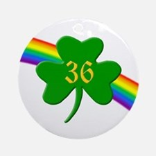 36th Shamrock Ornament (Round)