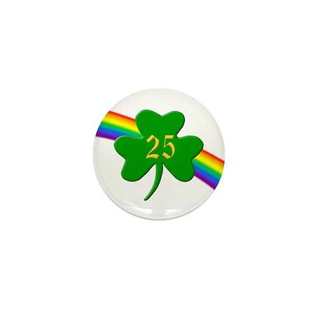 25th Shamrock Mini Button (10 pack)
