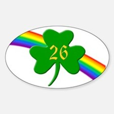 26th Shamrock Oval Decal