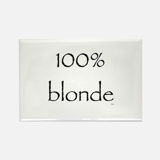 100% Blonde Rectangle Magnet