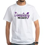 Domestically Disabled White T-Shirt