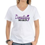 Domestically Disabled Women's V-Neck T-Shirt
