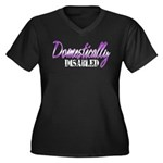 Domestically Disabled Women's Plus Size V-Neck Dar