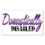 Domestically Disabled Sticker (Rectangle)