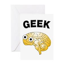 Geek Brain Greeting Card
