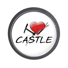 I Heart Castle Wall Clock