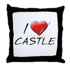 I Heart Castle Throw Pillow
