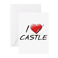 I Heart Castle Greeting Cards (Pk of 10)
