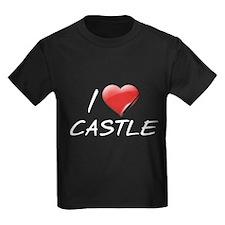 I Heart Castle Kids Dark T-Shirt