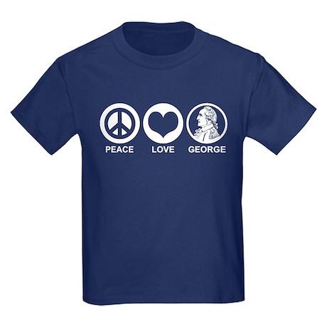 Peace Love George Kids Dark T-Shirt