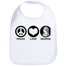 Peace Love George Bib