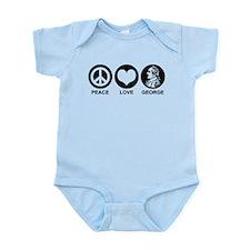 Peace Love George Infant Bodysuit
