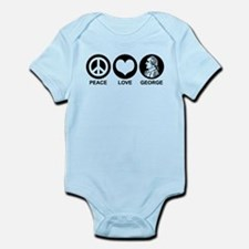 Peace Love George Infant Bodysuit