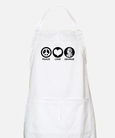 Peace Love George Apron