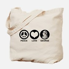 Peace Love George Tote Bag